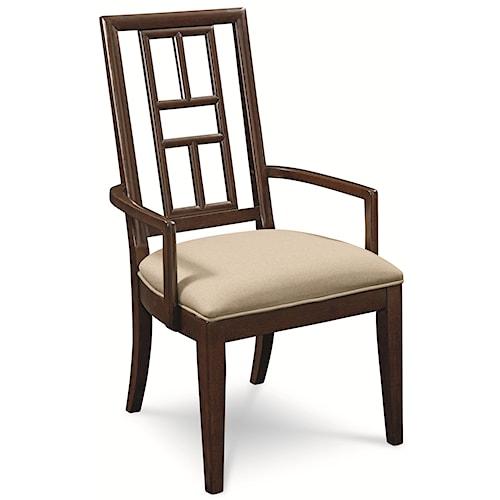 Thomasville® Lantau Dining Arm Chair w/ Upholstered Seat