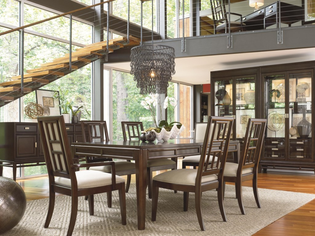Shown in Room Setting with Sideboard, China, Table and Arm Chairs