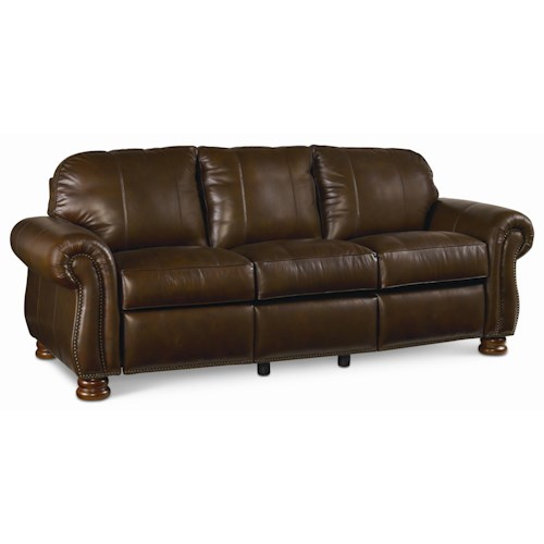Thomasville® Leather Choices - Benjamin Select Plus 3-Seat Leather Motion Sofa