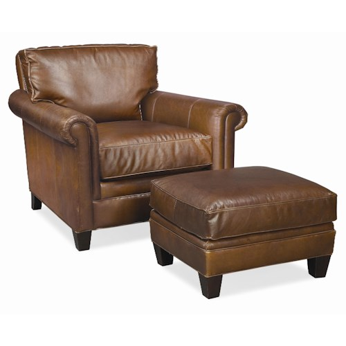 Thomasville® Leather Choices - Mercer Select Chair and Ottoman