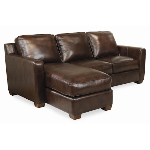 Thomasville Leather Choices Metro Leather Select 2 Piece Sectional Adcock Furniture Sofa