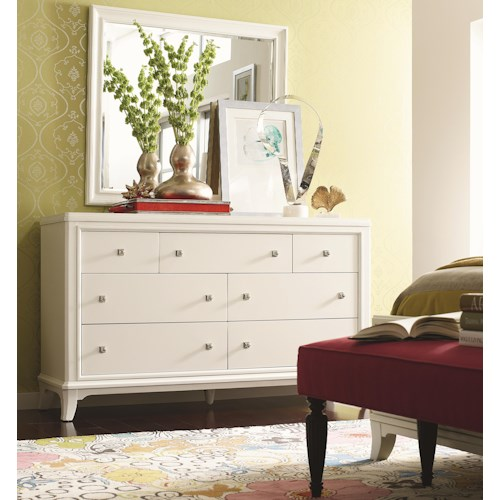 Thomasville® Manuscript Drawer Dresser w/ Landscape Mirror