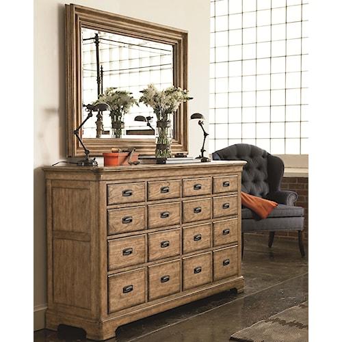 Thomasville® Reinventions Marquette Apothecary Dresser w/ Landscape Mirror