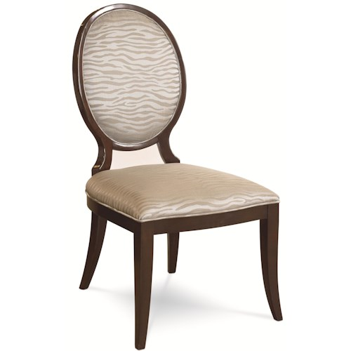 Thomasville® Spellbound Upholstered Side Chair w/ Tapered Legs