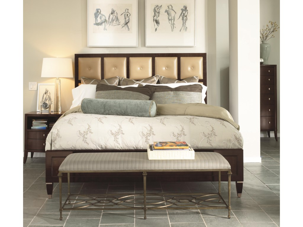 Shown with Nightstand, Leather Panel Bed and Chest
