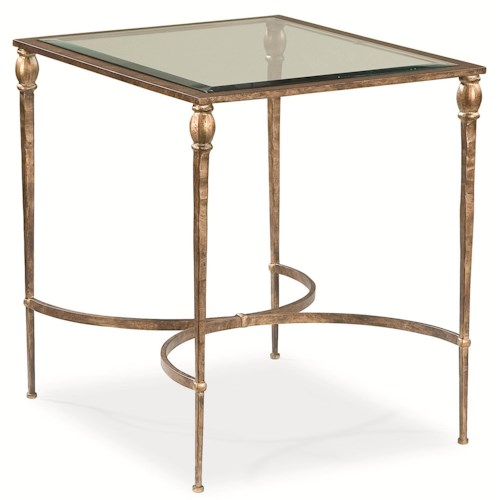 Thomasville® Stiletto End Table w/ Glass Top