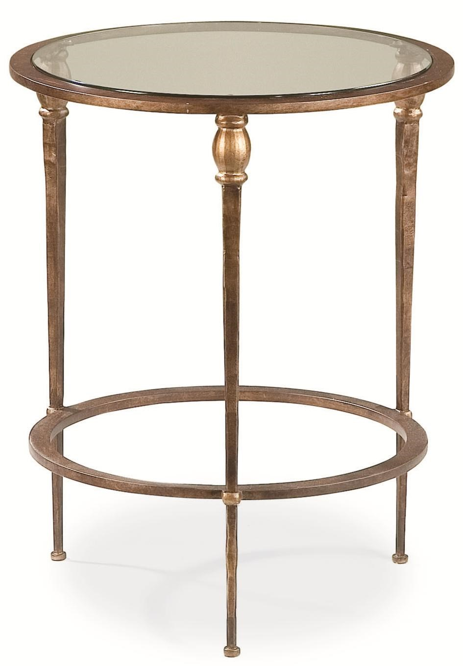 Thomasville 174 Stiletto Accent Table W Glass Top Dunk