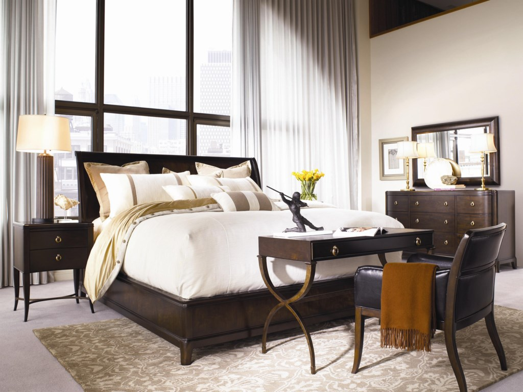 Shown with Mirror, Platform Bed, Desk Chair, and Bedside Tables