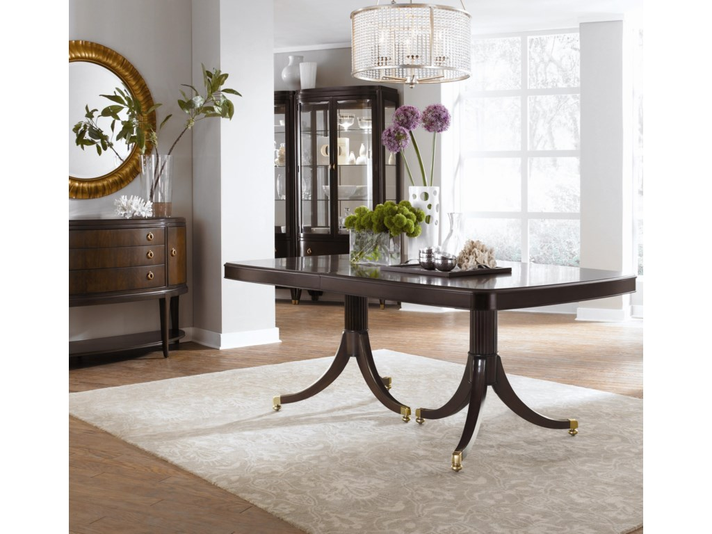 Shown with Double Pedestal Dining Table, Credenza, and Mirror