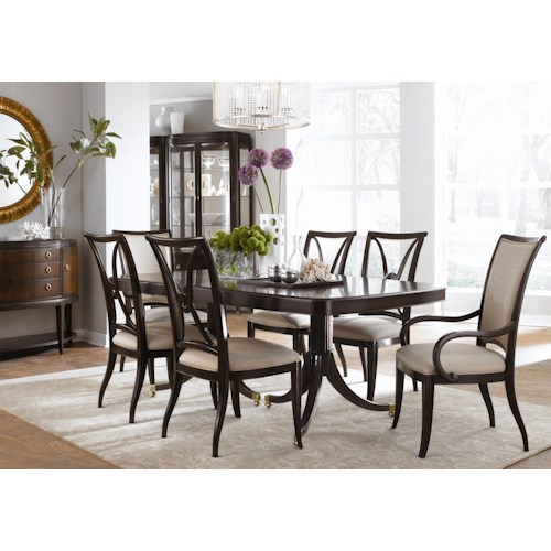 Thomasville® Studio 455 Seven Piece Double Pedestal Table Dining Set