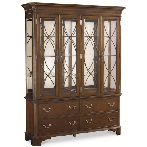 Thomasville® Tate Street China Cabinet w/ Mirrored Back