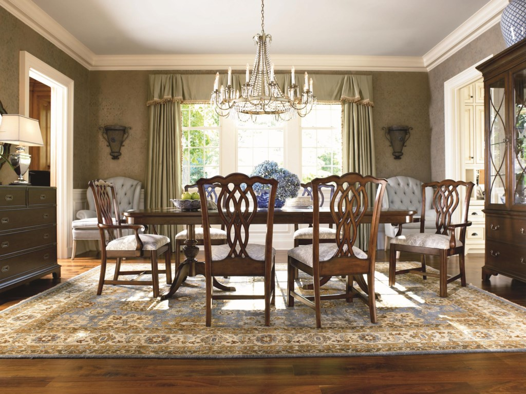Shown in Room Setting with China, Side and Arm Chairs