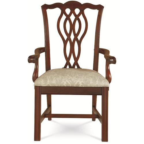 Thomasville® Tate Street Dining Arm Chair w/ Ribbon Back
