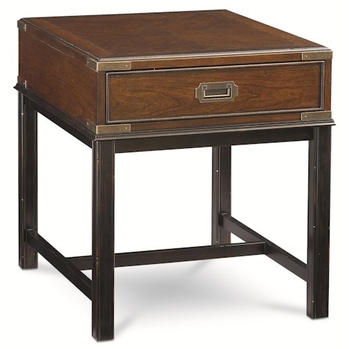 Thomasville® Tate Street Campaign End Table w/ Drawer