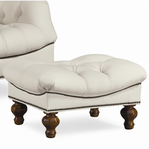 Thomasville® Upholstered Chairs and Ottomans Walden Tufted Seat Ottoman