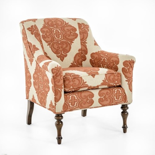 Thomasville® Upholstered Chairs and Ottomans Kiley Chair with English Arms