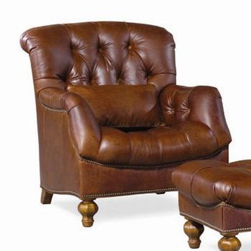 Thomasville® Upholstered Chairs and Ottomans Walden Tufted Back Arm Chair
