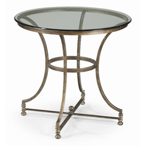 Thomasville® Vintage Chateau End Table with Glass Top