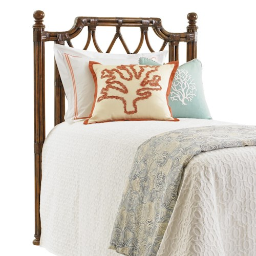 Tommy Bahama Home Bali Hai Twin Island Breeze Rattan Headboard