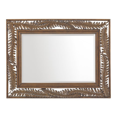 Tommy Bahama Home Bali Hai Seabrook Palm Frond Landscape Mirror