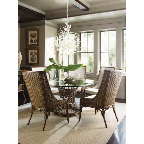 Tommy Bahama Home Bali Hai Tropical 7 Piece Dining Set