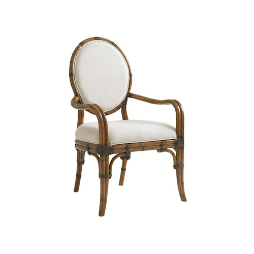 Tommy Bahama Home Bali Hai Customizable Gulfstream Oval Back Arm Chair