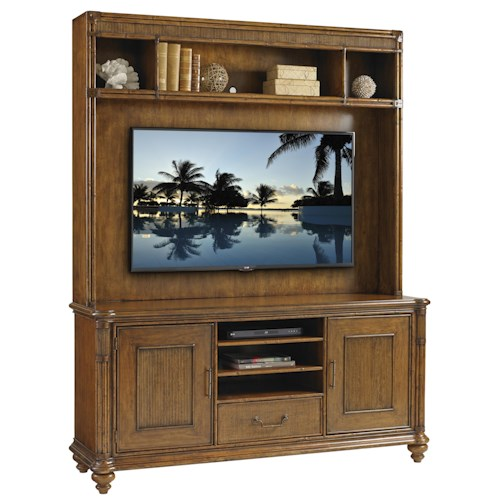 Tommy Bahama Home Bali Hai Pelican Cay Media Console and Hutch