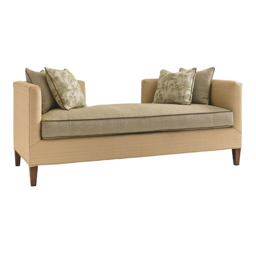 Tommy Bahama Home Bali Hai Contemporary Backless Sebastian Settee