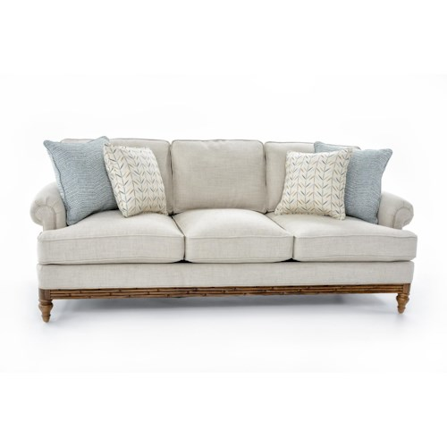 Tommy Bahama Home Beach House Golden Isle Stationary Sofa With Accent Pillows