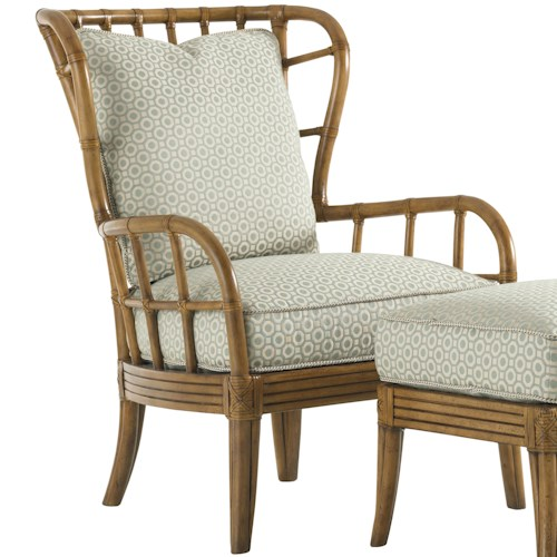 Tommy Bahama Home Beach House Island-Inspired Exposed Rattan Winged Sunset Cove Chair