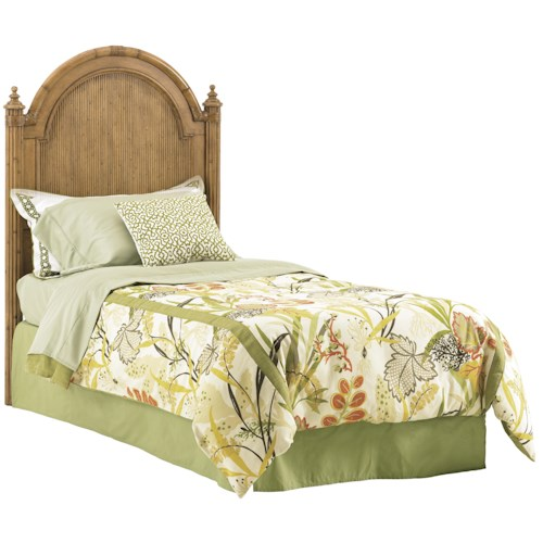 Tommy Bahama Home Beach House Twin-Size Belle Isle Headboard with Bamboo Accents