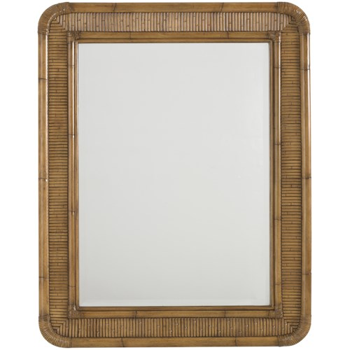 Tommy Bahama Home Beach House Osprey Beveled Wall Mirror with Reeded Bamboo Frame