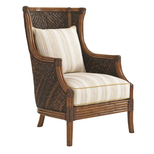 Tommy Bahama Home Island Estate Loose Back Wicker Rum Beach Chair