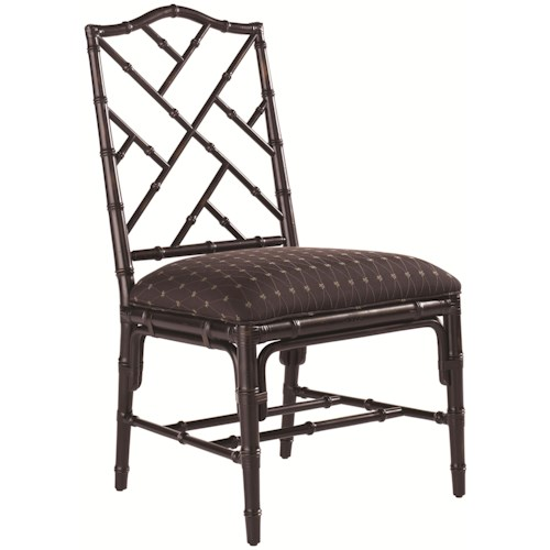 Tommy Bahama Home Island Estate <b>Customizable</b> Ceylon Side Chair with Rattan Frame