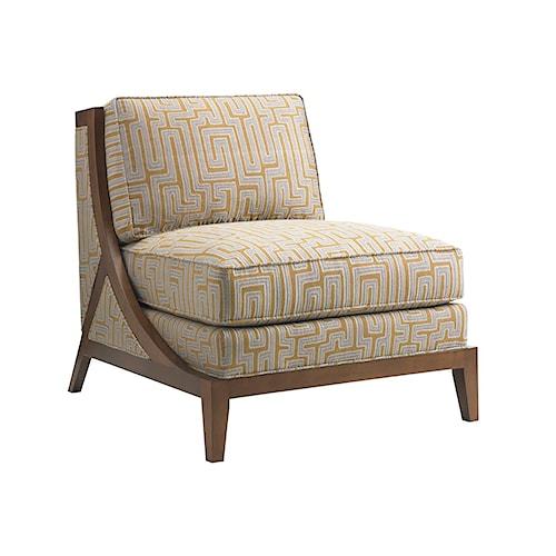 Tommy Bahama Home Island Fusion Tasman Contemporary Armless Chair