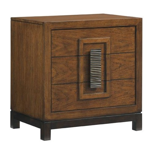 Tommy Bahama Home Island Fusion Isabela Asian-Inspired Nightstand with Three Drawers