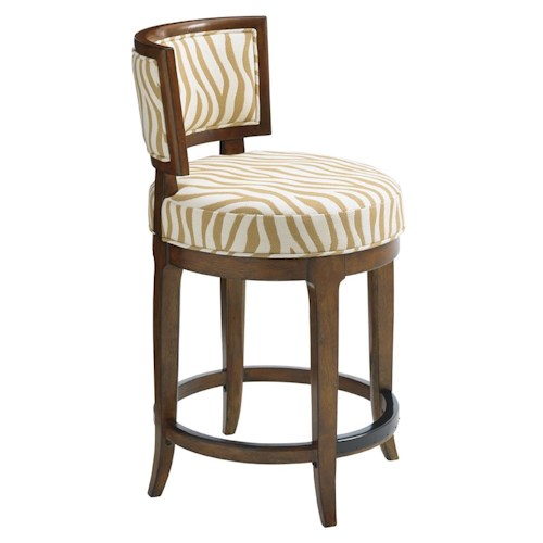 Tommy Bahama Home Island Fusion Macau Customizable Swivel Counter Stool
