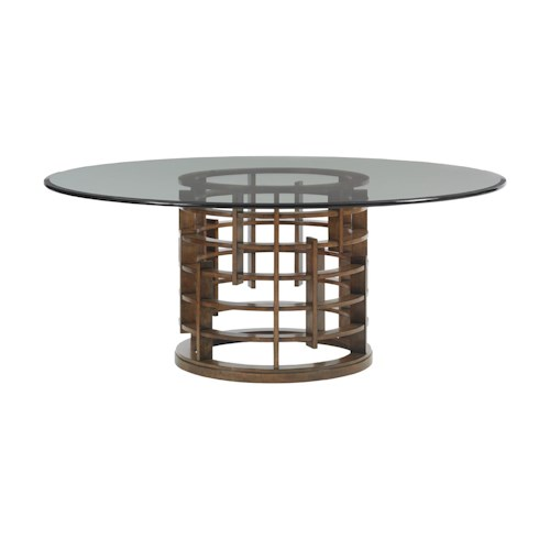 Tommy Bahama Home Island Fusion Meridien Dining Table with 72
