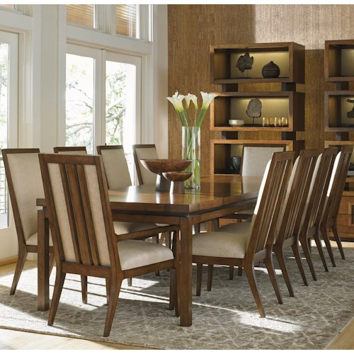 Tommy Bahama Home Island Fusion Eleven Piece Dining Set with Natori Chairs
