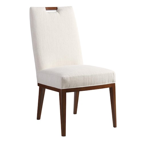 Tommy Bahama Home Island Fusion Coles Bay Side Chair in Ivory