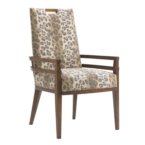 Tommy Bahama Home Island Fusion Coles Bay Customizable Arm Chair