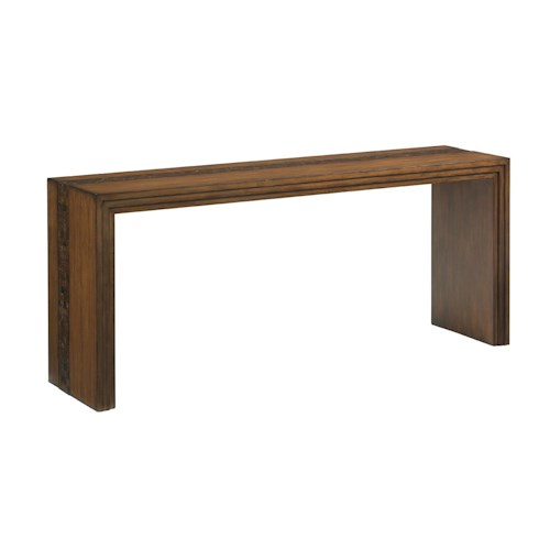Tommy Bahama Home Island Fusion Turtle Island Console Table with Coconut Shell Inlay