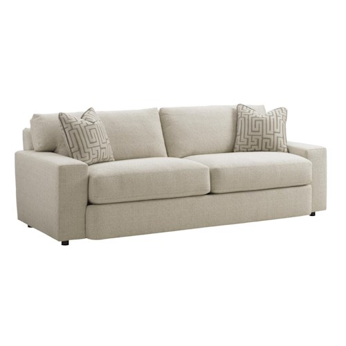 Tommy Bahama Home Island Fusion Sakura Contemporary Two Cushion Sofa
