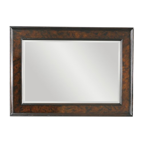 Tommy Bahama Home Island Traditions Somerton Landscape Mirror with Tortoise Shell Inlay