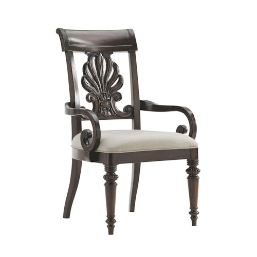 Tommy Bahama Home Island Traditions Chester Carved Arm Chair Quickship