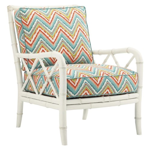 Tommy Bahama Home Ivory Key Heydon Chair with Bamboo Style Frame