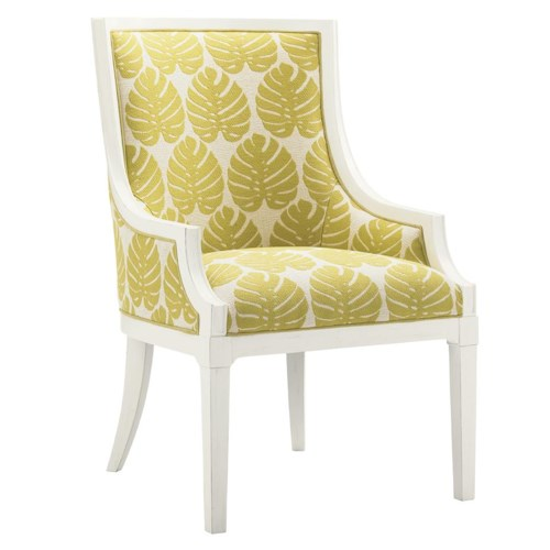 Tommy Bahama Home Ivory Key Aqua Bay Chair with Slope Arms