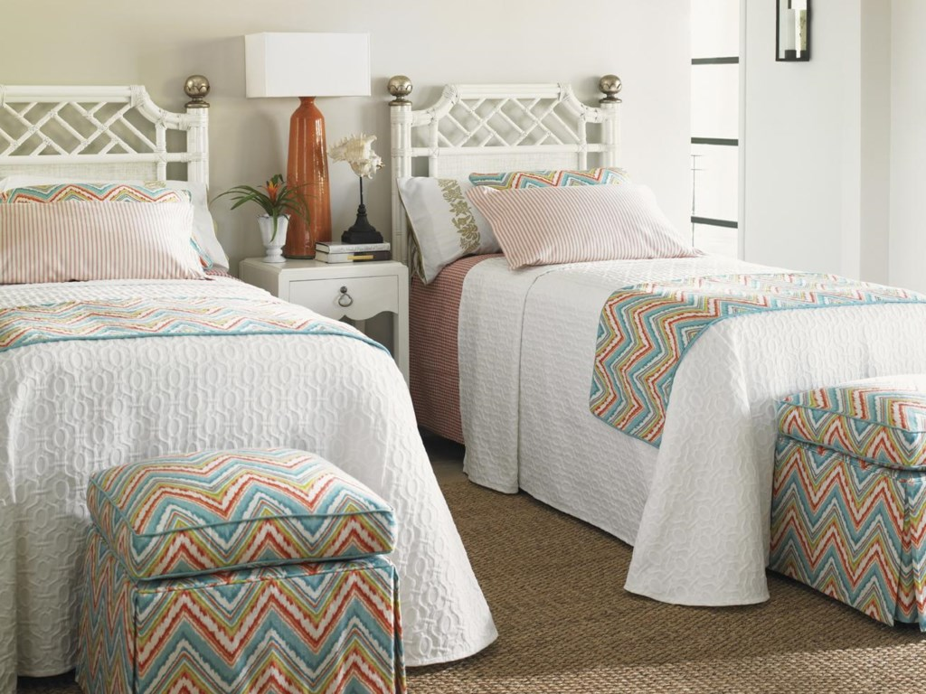 Shown with Half Moon Caye Ottoman,and Water Street Bedside Table