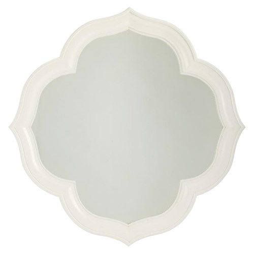 Tommy Bahama Home Ivory Key Paget Mirror with Quatrefoil Diamond Shape