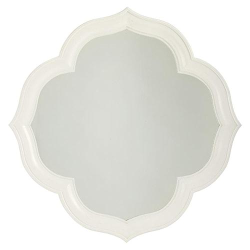 Tommy Bahama Home Ivory Key Paget Mirror with Quatrefoil Diamond Shape